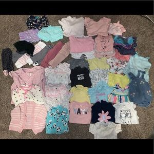 Lot of baby girl 0-3 month clothing